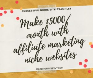 Make $5000/ month with niche websites- Successful niche site examples