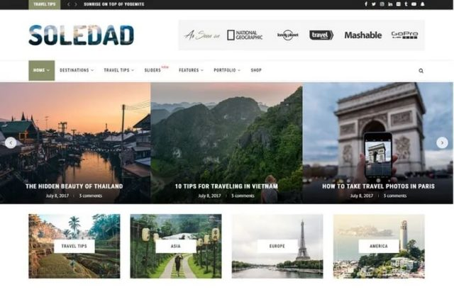 Soledad WordPress theme